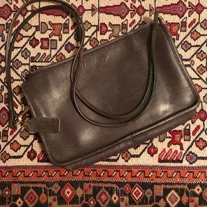 Vintage Leather Coach Shoulder Bag